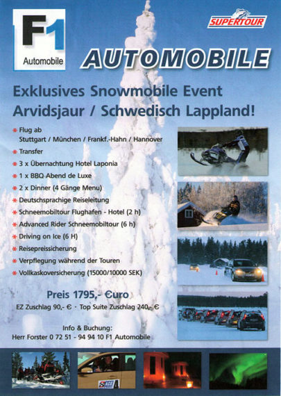 F1 Lappland – Exklusives Snowmobil Event